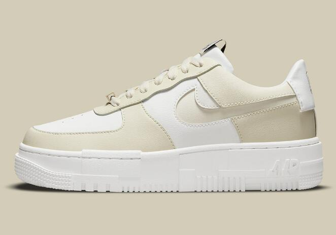 2021 New Air Force 1 Pixel Releasing With Cream And White Colorways