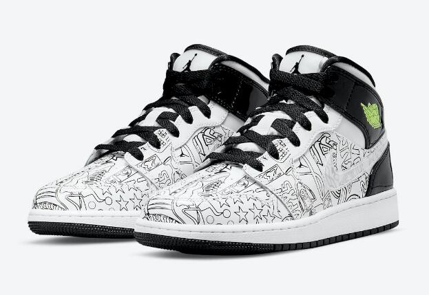 """Air Jordan 1 Mid GS """"DIY"""" is Good Collection for your idea"""
