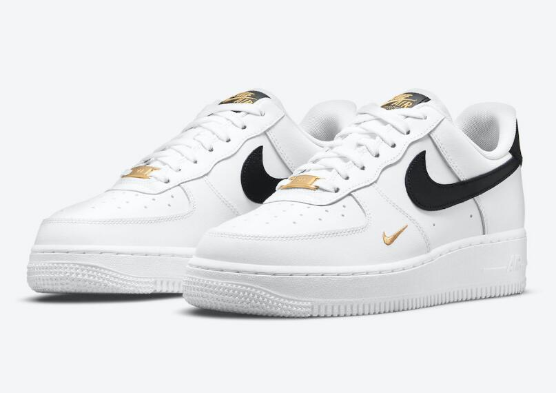 CZ0270-102 Nike Air Force 1 07 Essential White Black Gold is Available Now
