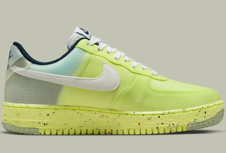 DH2521-700 Nike Air Force 1 Crater Light Lemon Twist New Running Shoes