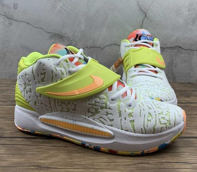 Good Outfit is Nike KD14 EP White Cyber University Red