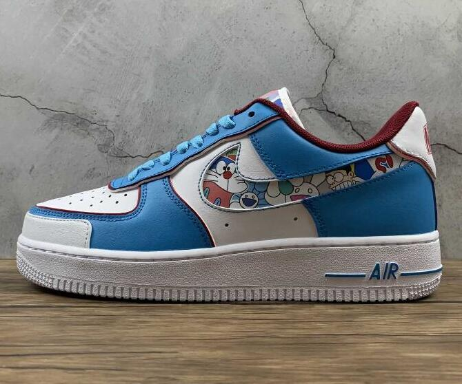 Hiking Sneakers Nike Air Force 1 07 Blue Red White BQ8988-106 for Cheap Sale