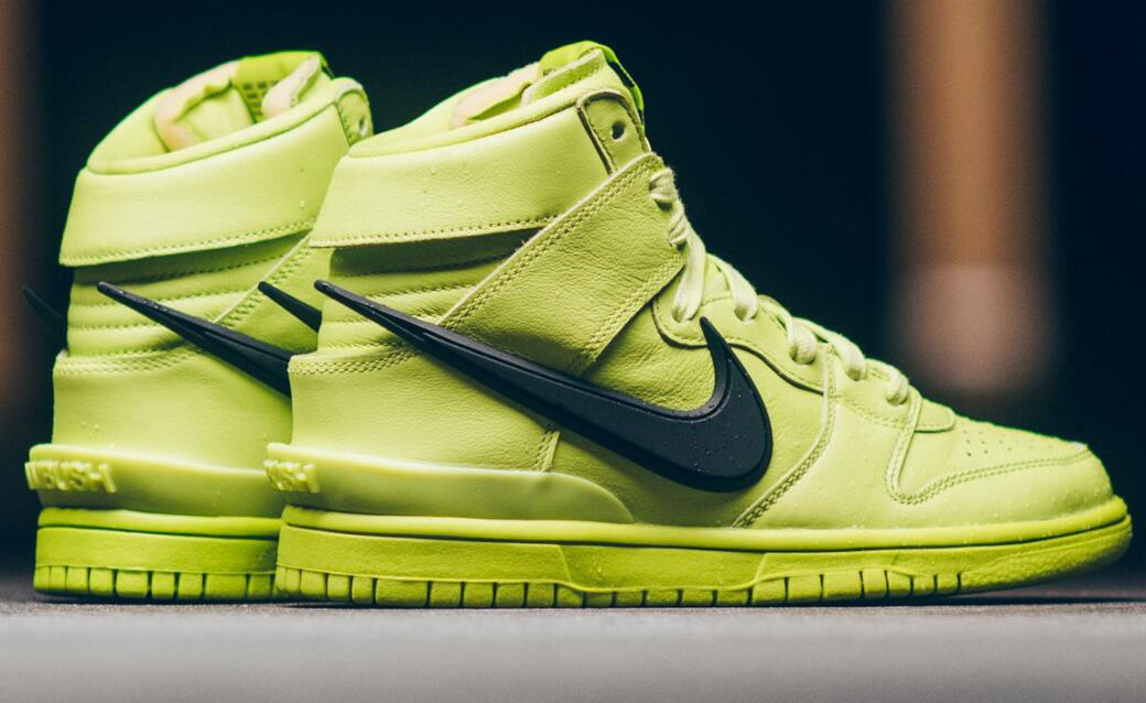 Hot AMBUSH x Nike Dunk High Atomic Green Releases this Friday