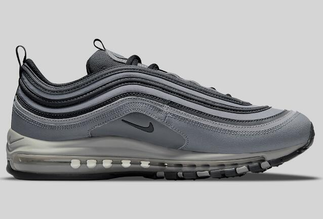 Latest 2021 Nike Air Max 97 Grey Black Release with the Small Swooshes