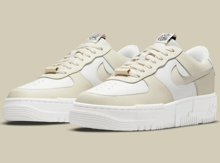 Latest Drop Cream White Nike Air Force 1 Pixel for Women