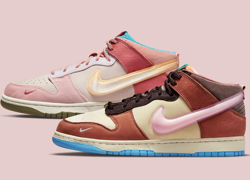 Milk Carton Inspiration Added To The Latest Nike Dunk Mid Free Lunch