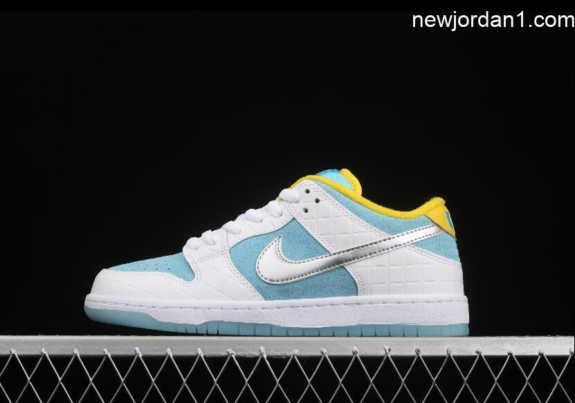 New Brand Nike SB Dunk Low PRO Lagoon Pulse Blue White Silvery DH7687-400 Sneakers