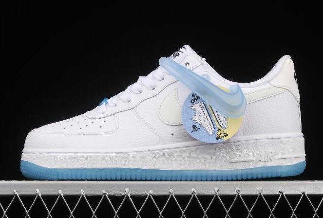 New Style WMNS Nike Air Force 1 07 LX White Blue DA8301-101 Sport Sneakers