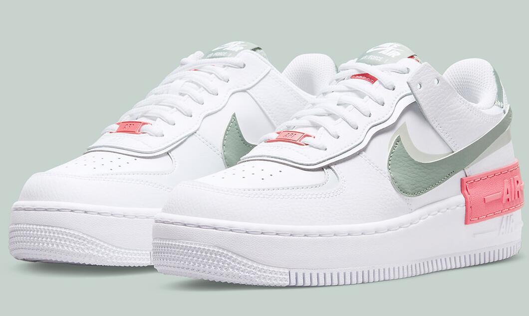 """Newest Nike Air Force 1 Shadows Covered by A Bold Dash Of """"Archeo Pink"""""""