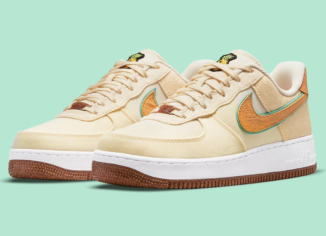 One New Pair Nike Air Force 1 Low Pineapple Just Unveils for Summer
