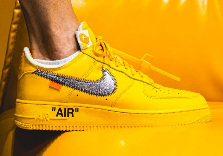 People Got Off-White™ x Nike AF1 University Gold with Surprise Discount