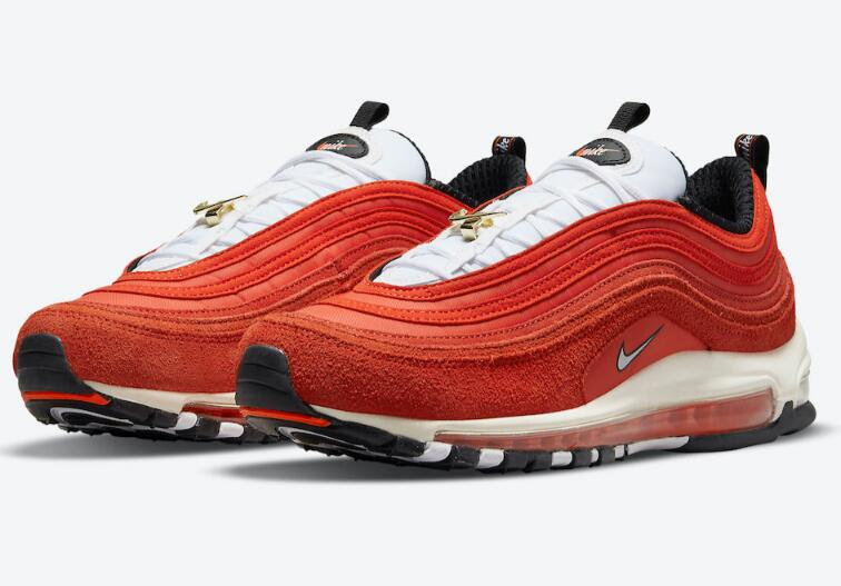 Stylish 2021 Nike Air Max 97 First Use Got Cover with Reddish Orange Colorway