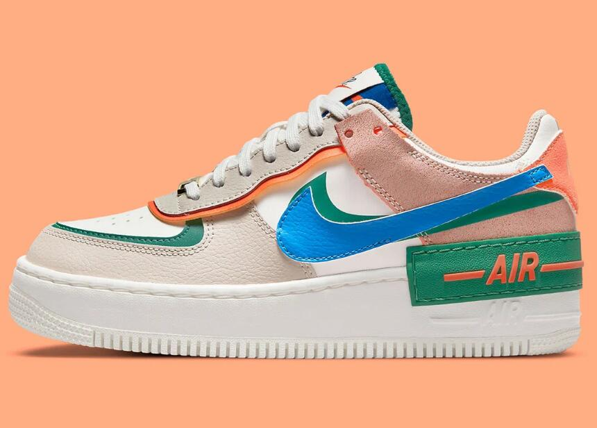 The Nike Air Force 1 Shadow First Use Release With Bold Tones