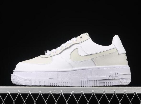 WMNS Nike Women's Air Force 1 Pixel Particle Beige Matcha Green CK6649-009 Sneakers