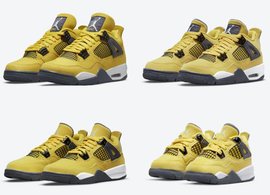 Cool Air Jordan 4 Retro Lightning is Availabe in Family Sizing