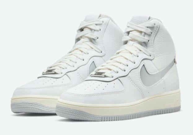"""DC3590-101 NIKE AIR FORCE 1 HIGH STRAPLESS """"NEUTRAL GREY"""" RELEASING SOON"""