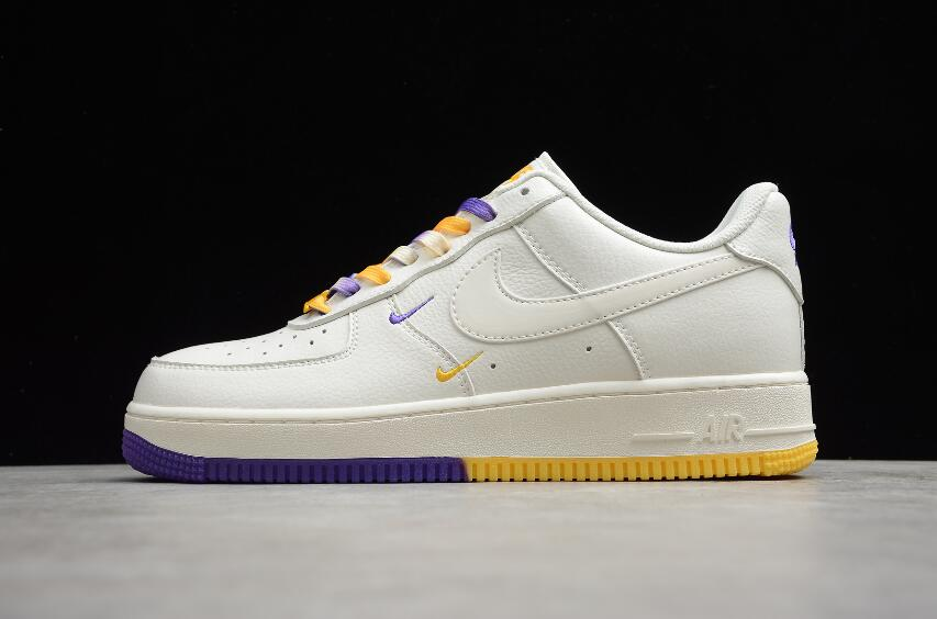 This image has an empty alt attribute; its file name is Favorite-Nike-Air-Force-1-07-SU19-Beige-Yellow-Purple-CT1989-106-Running-Shoes-1.jpg