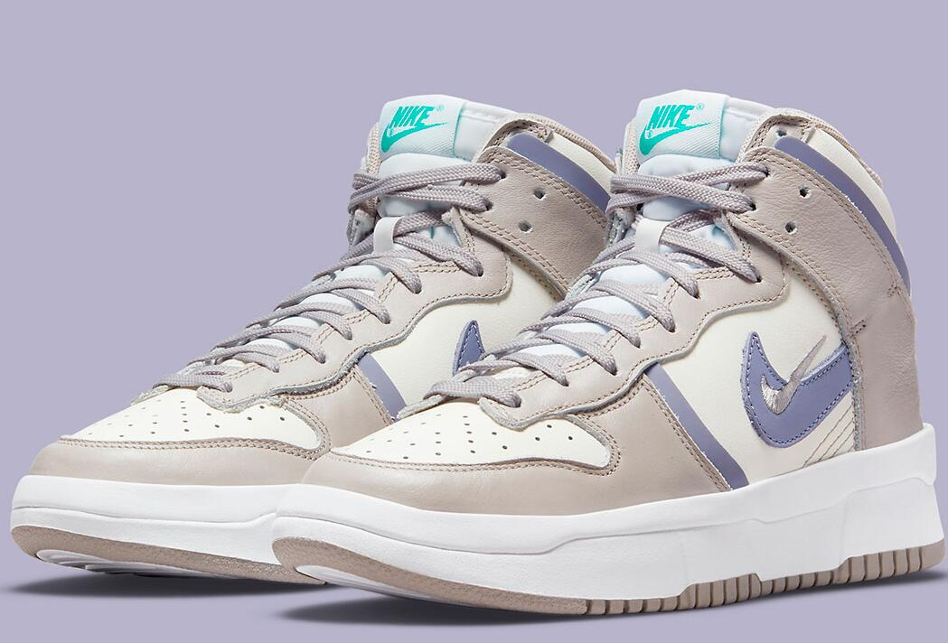 """Girls's Nike Dunk High Rebel Coming With A Clean """"Iron Purple"""" Colorway"""