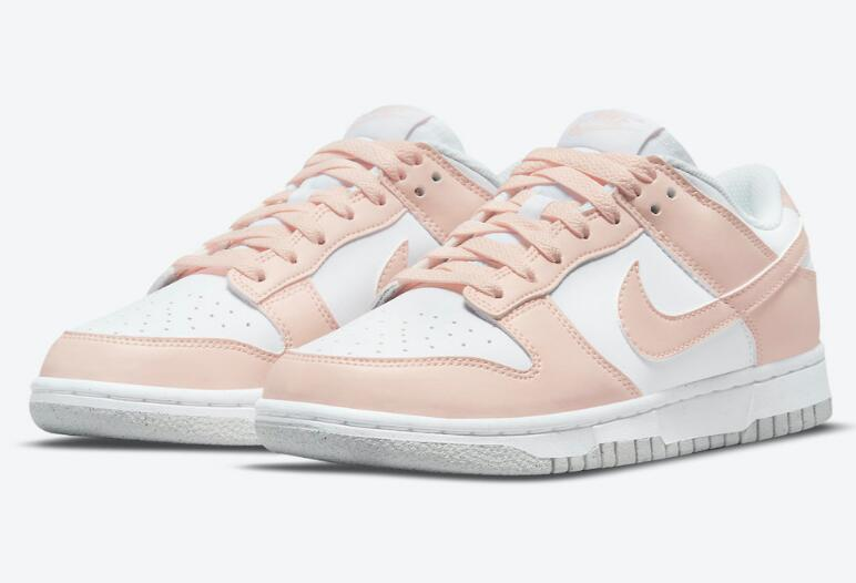 Newest Nike Dunk Low Move to Zero Coverd by White and Soft Pink