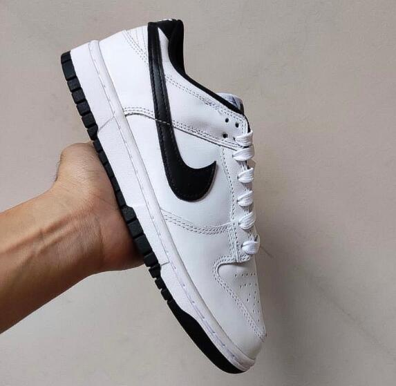 Simple White BlackNike Dunk Low is Available Now
