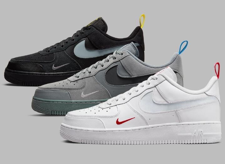 Cut-Out Swooshes Nike Air Force 1 Releasing With Three Colorways