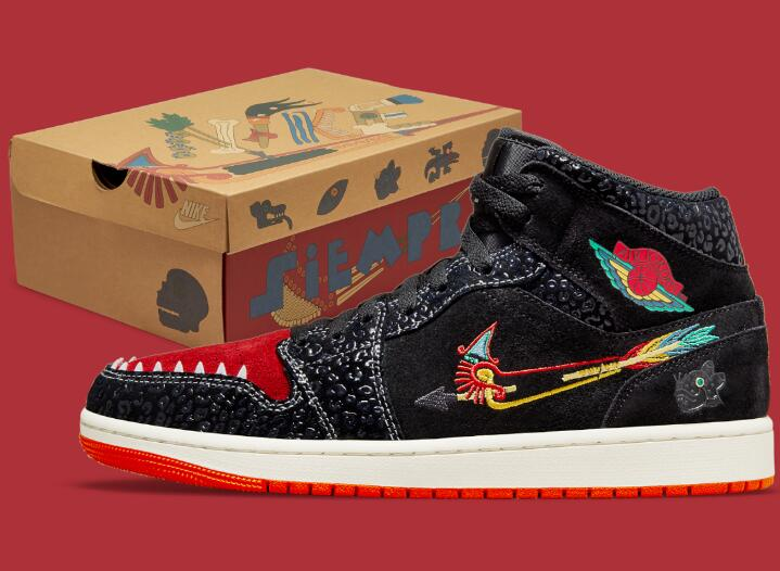 """The Air Jordan 1 Mid """"SiEMPRE Familia"""" to Release on Oct 2021"""