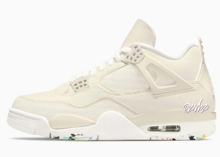 Women's Air Jordan 4 Blank Canvas to Unveils on February 2022